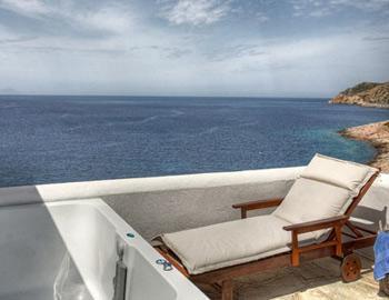 Delfini Apartments Superior double view Kamares